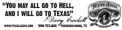 "Texas Jack ""You May All Go To Hell"" Bumper Sticker"